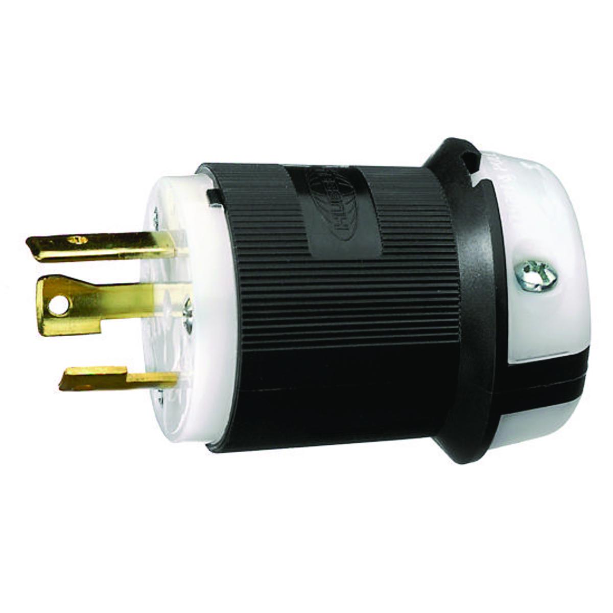 New Hubbell HBL2621BK HBL Insulgrip Twist-Lock Plug 2621 30A 250V