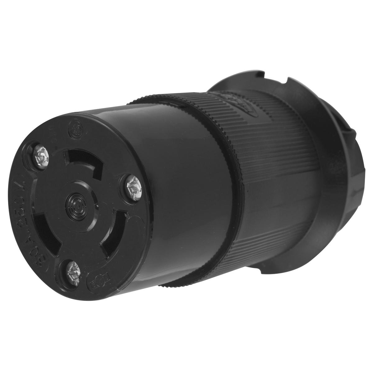 LKG CONN, 30A 250V, L6-30R, BK