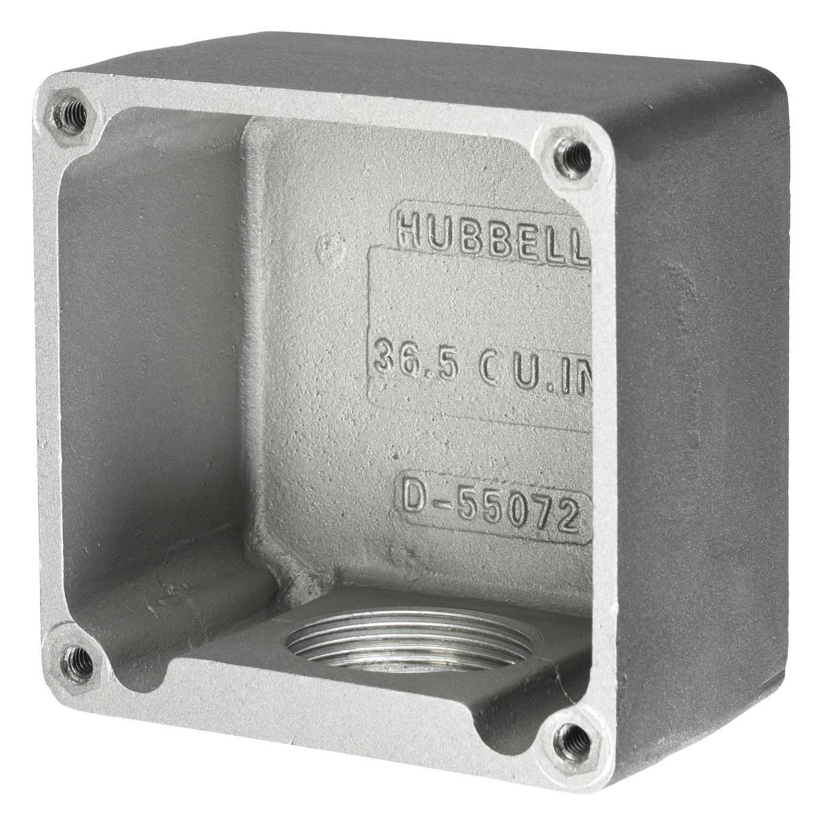Hubbell HBL26401 60 Amp 600 Volt Cast Aluminum Receptacle Box