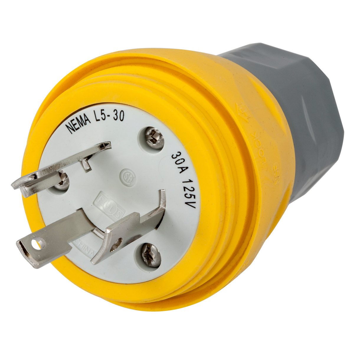 Hubbell HBL28W47 Plug, NEMA L5-30P, 30A 125V, YL