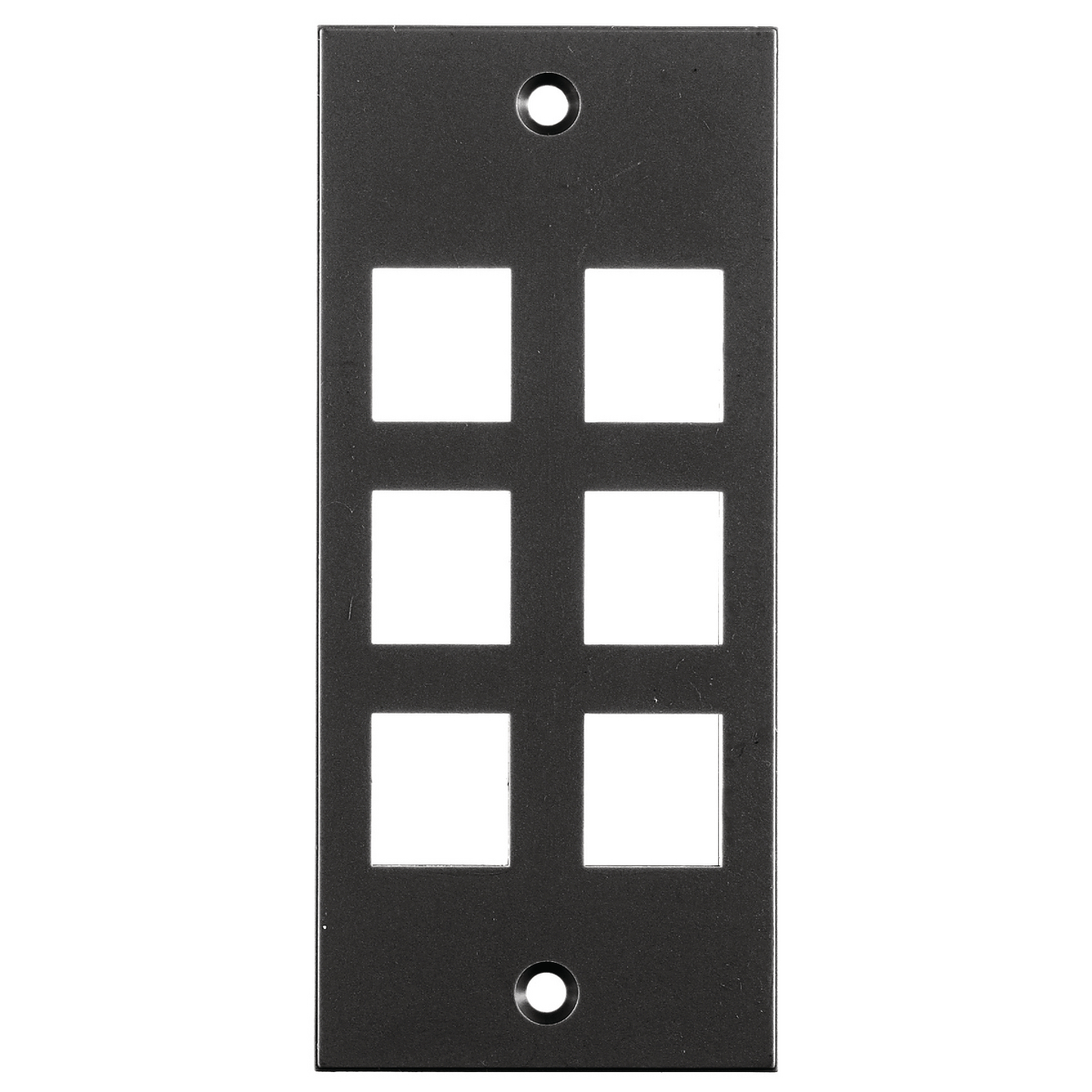 Hubbell HBL317SBK 6-Port 2 x 4.5 Inch Black Screw Type Face Plate