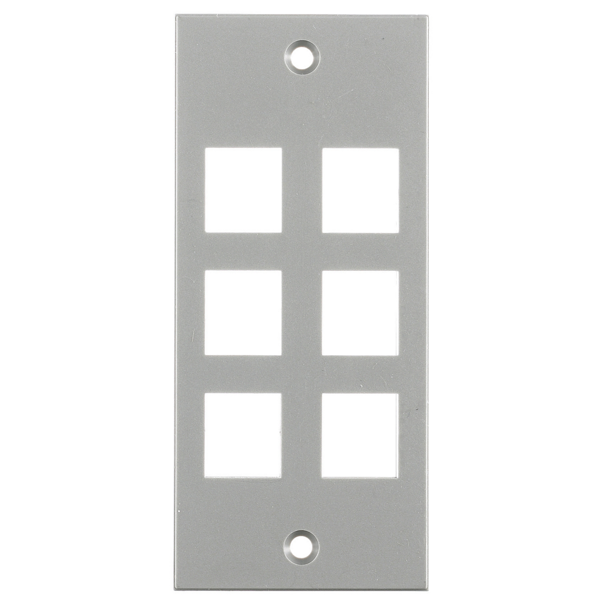 Hubbell HBL317SGY 6-Port 2 x 4.5 Inch Gray Screw Type Face Plate