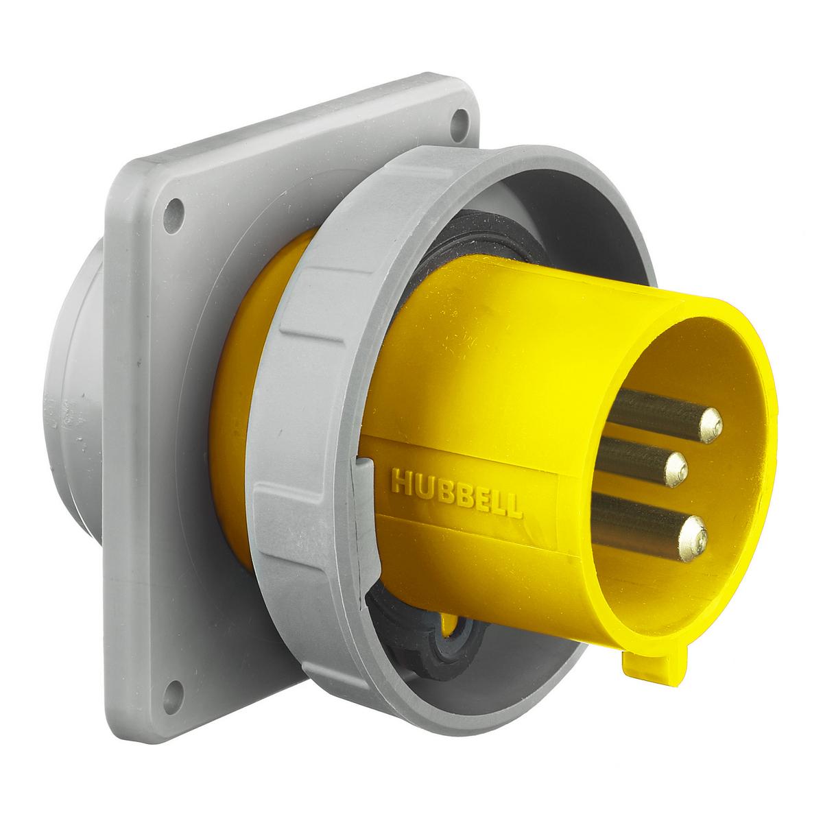 Hubbell HBL330B4W PS, IEC, B, 2P3W, 30A 125V, IP67