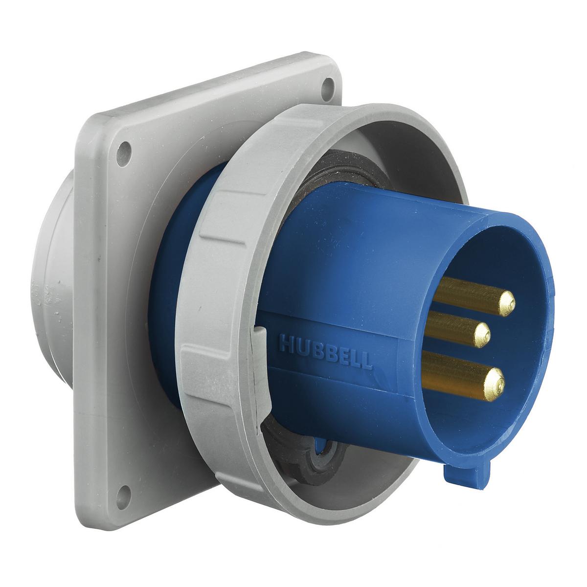 Hubbell HBL330B6W PS, IEC, B, 2P3W, 30A 250V, IP67