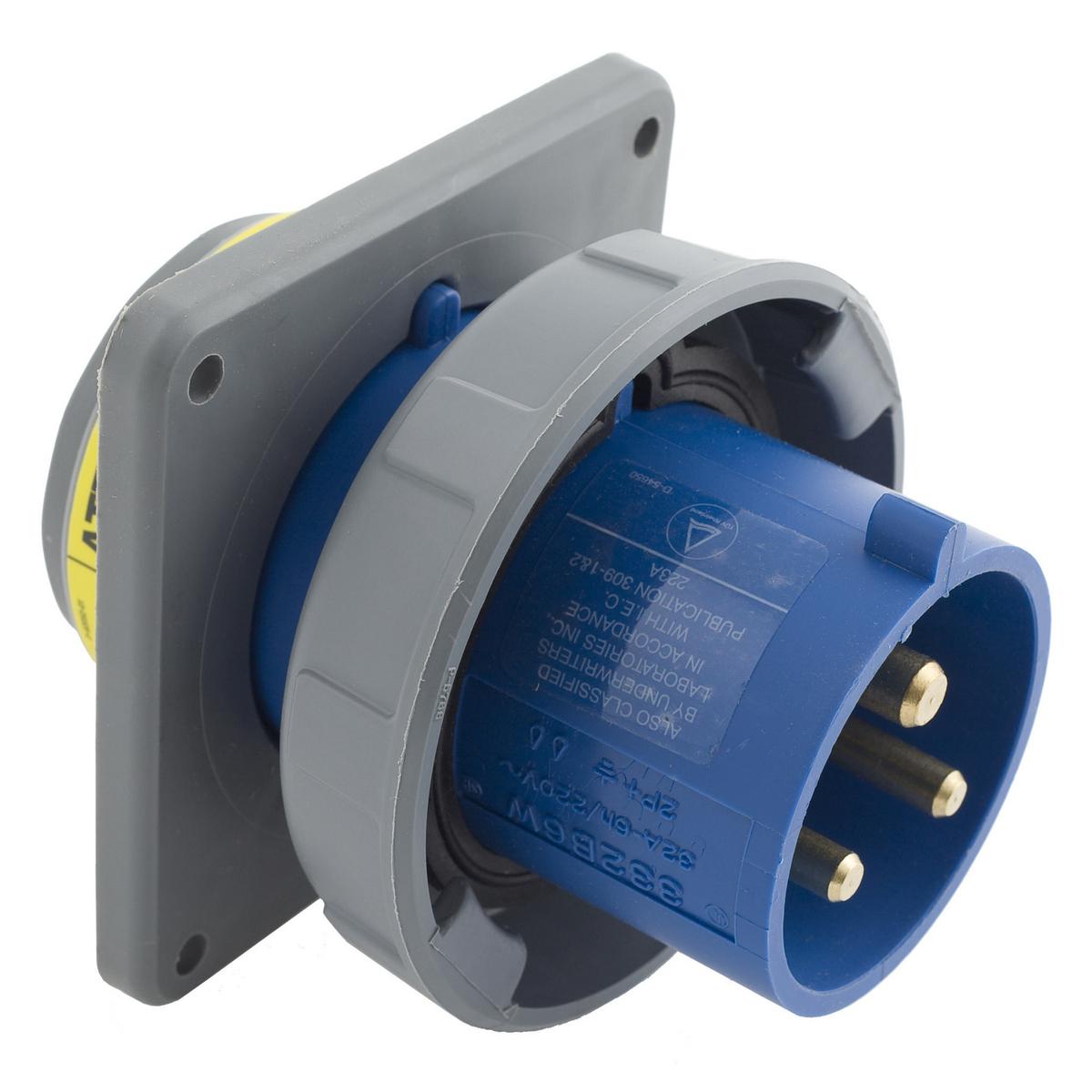 Hubbell HBL332B6W PS, IEC, B, 2P3W, 30A 250V, IP67