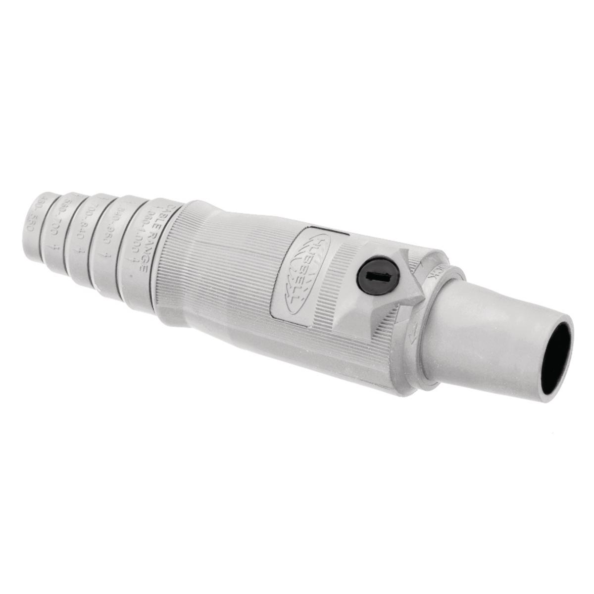Hubbell HBL400FW 400 Amp 600 VAC 250 VDC 1-Pole White FeMale Plug