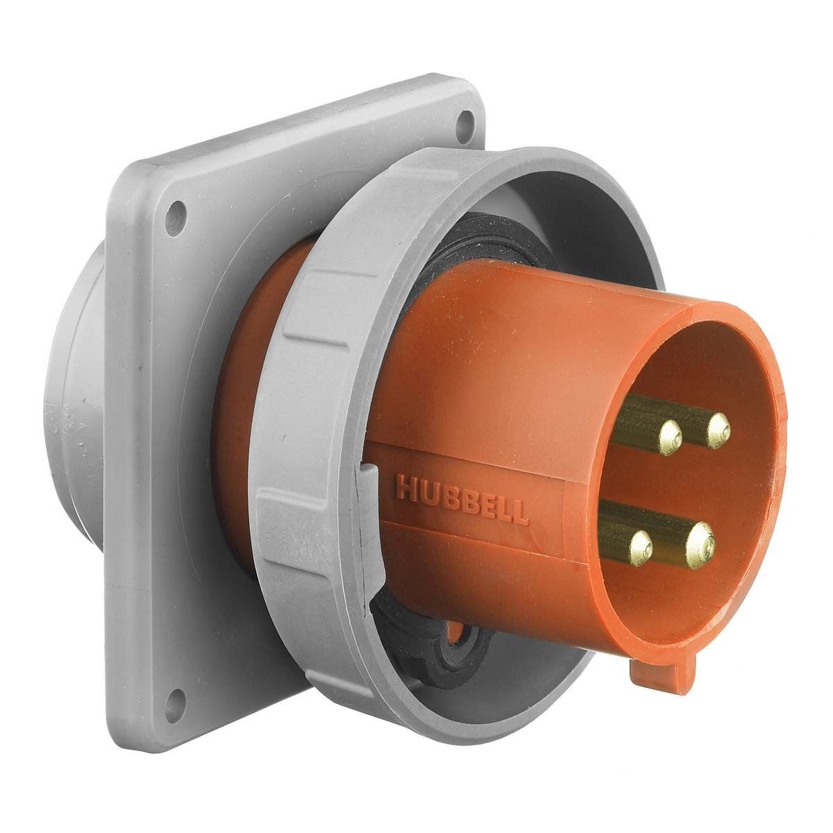 Hubbell HBL430B12W PS, IEC, B, 3P4W, 30A 125/250V, IP67