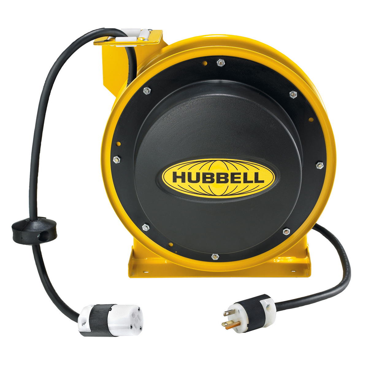 Hubbell HBL45123C 45 Foot 15 Amp 125 VAC NEMA 5-15R Industrial Power Cord Reel