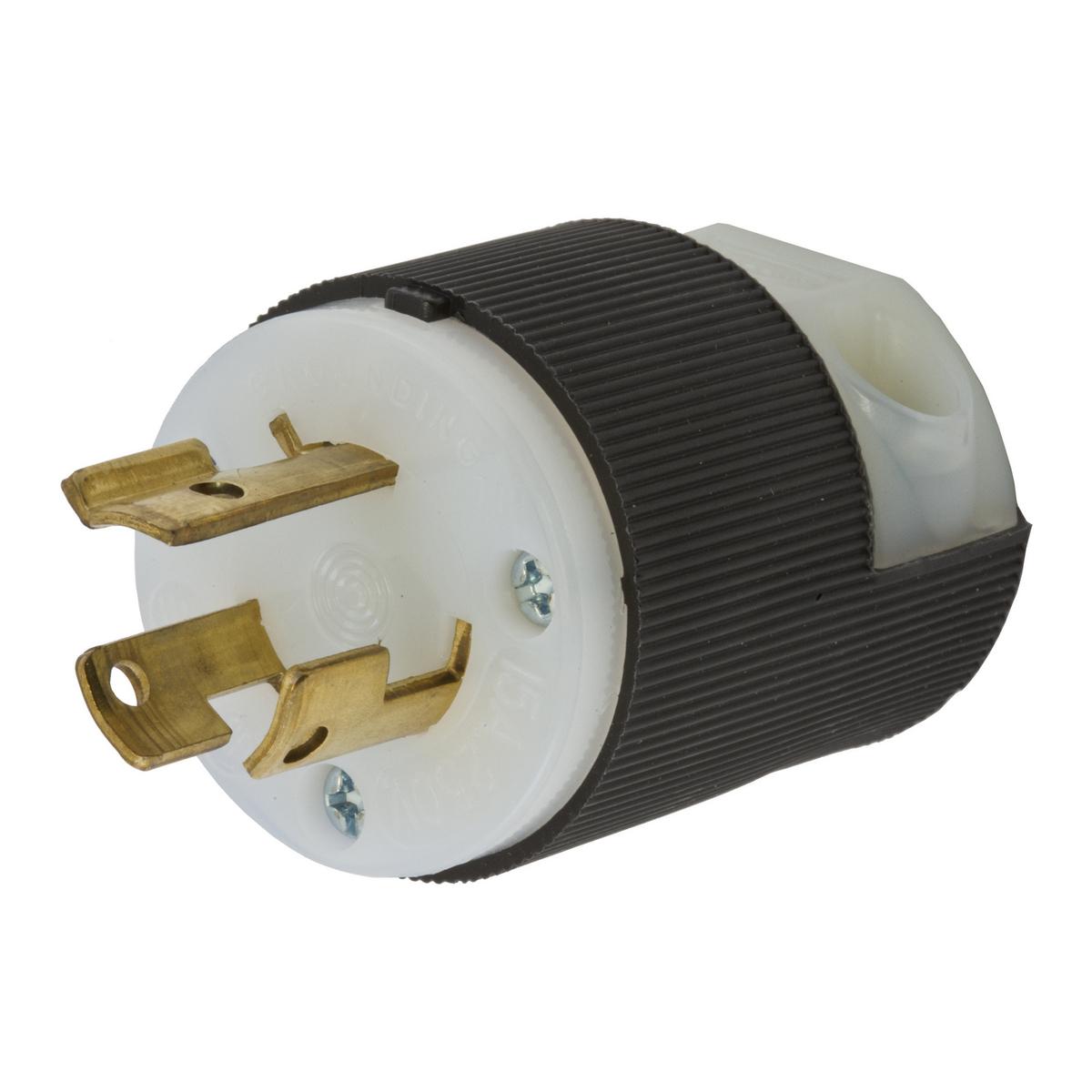 HUBHBL4570C LKG PLUG, 15A 250V, L6-15P, B/W ,HBL4570C, HUBBELL