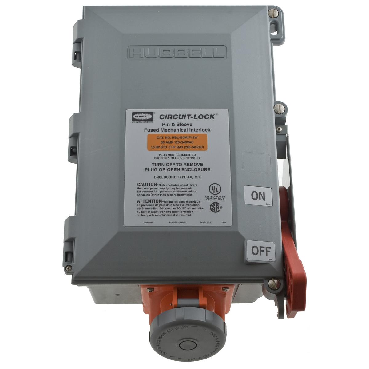 PS, IEC, MECINT, 3P4W, 60A 125/250V,FUSE