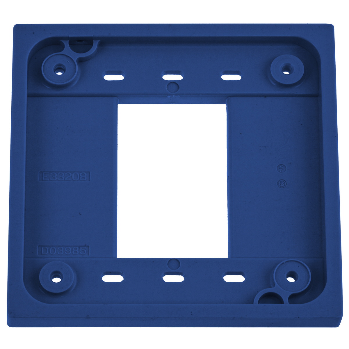 Hubbell HBL4APBL Blue Straight Blade Device 4-Plex Adapter Plate