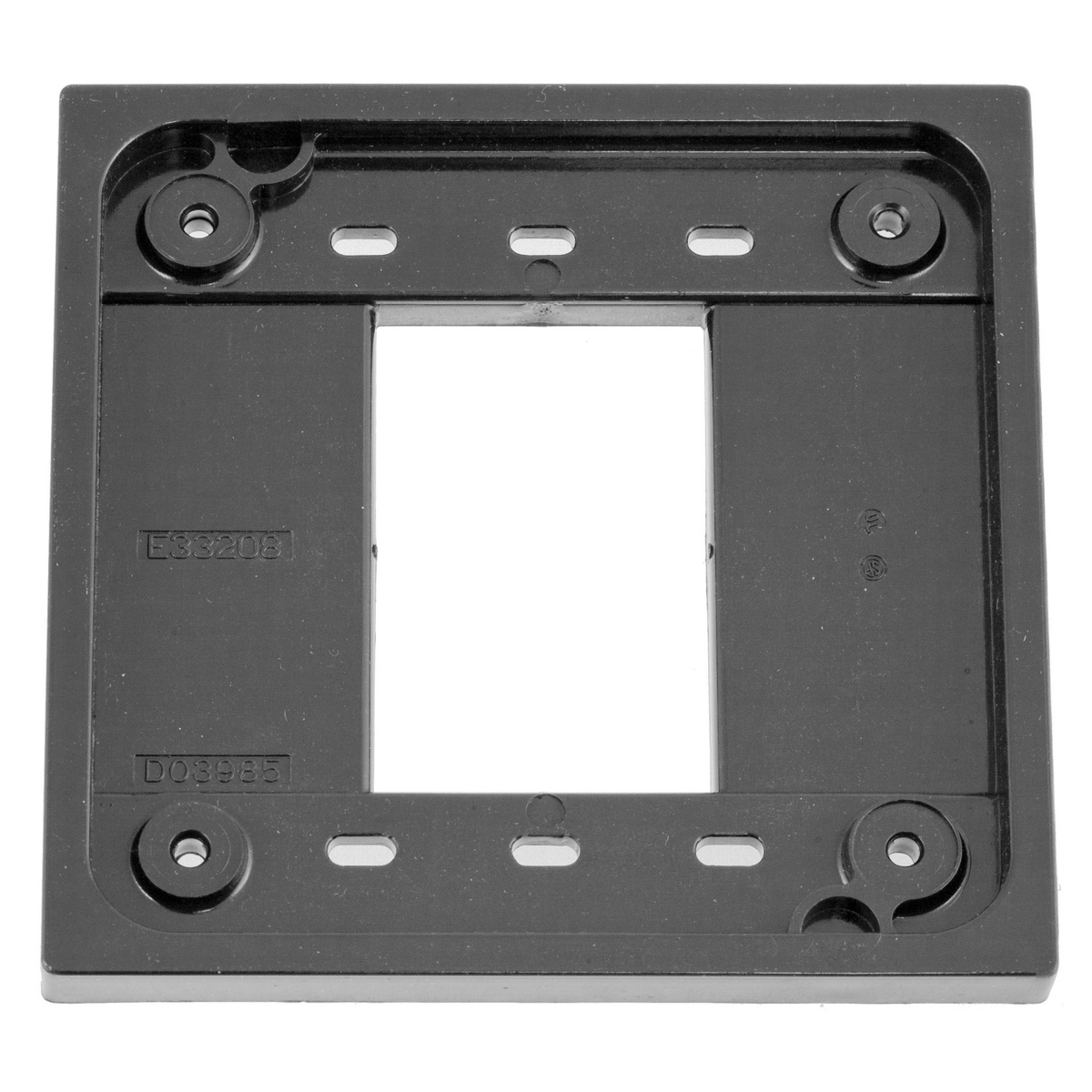 Hubbell HBL4APGYADAPTER PLATE, 4-PLEX, GY