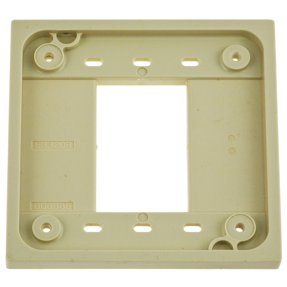 Hubbell HBL4API 4-Plex Ivory Adapter Plate