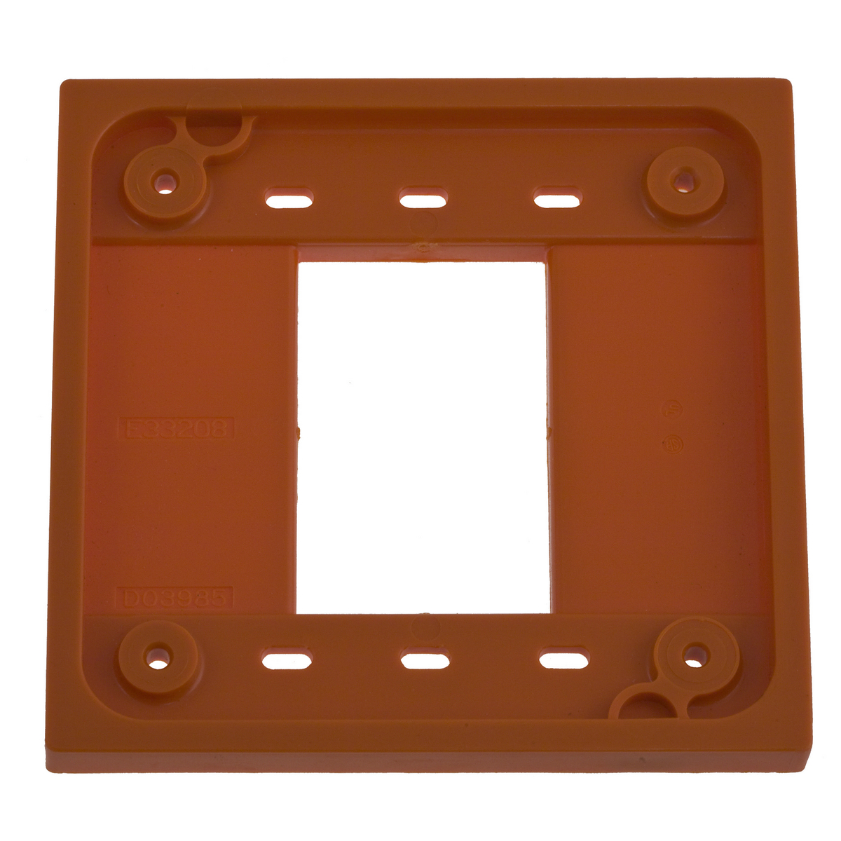 Hubbell HBL4APO Orange Straight Blade Device 4-Plex Adapter Plate