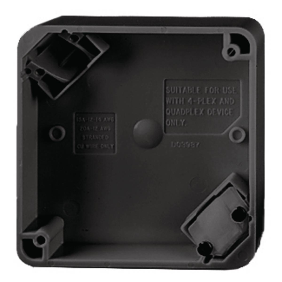 Hubbell HBL4PBBK4-PLEX PORT BOX, BK