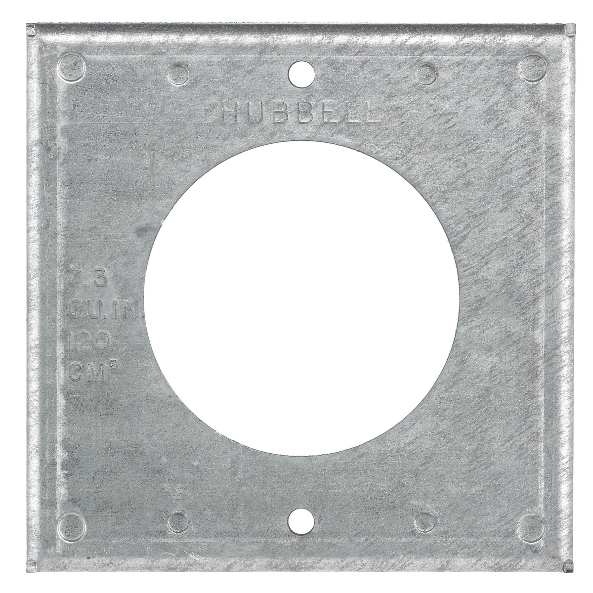 Hubbell HBL50SC 4 Inch Square 50 Amp Locking Opening Box Cover