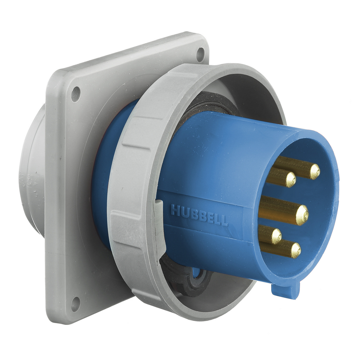 Hubbell HBL530B9W PS, IEC, B, 4P5W, 30/32A 120/208V, IP67
