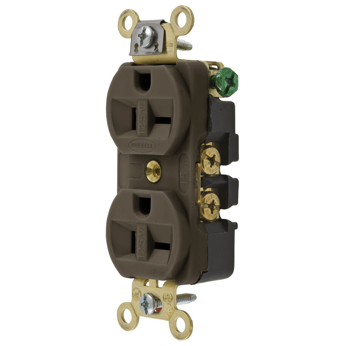 Hubbell HBL5392DUP Receptacle, 20A 125V, 5-20R(CAN), BR