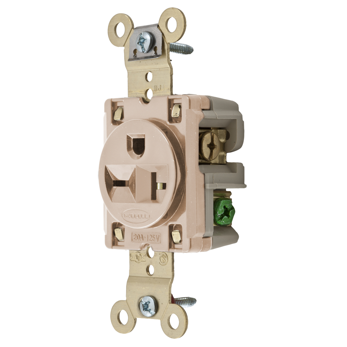 Hubbell Wiring Devices Show All Standard Electric Supply Device Kellems Straight Blade Receptacle Single 250 Vac 20 A Hbl5461la