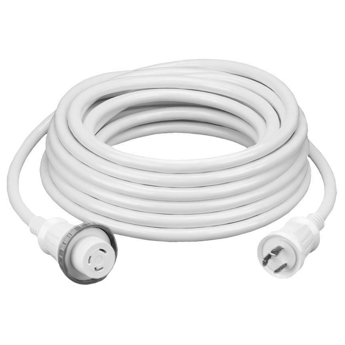 Hubbell HBL61CM08W Marine CABLE, 50', 30A 125V, WH