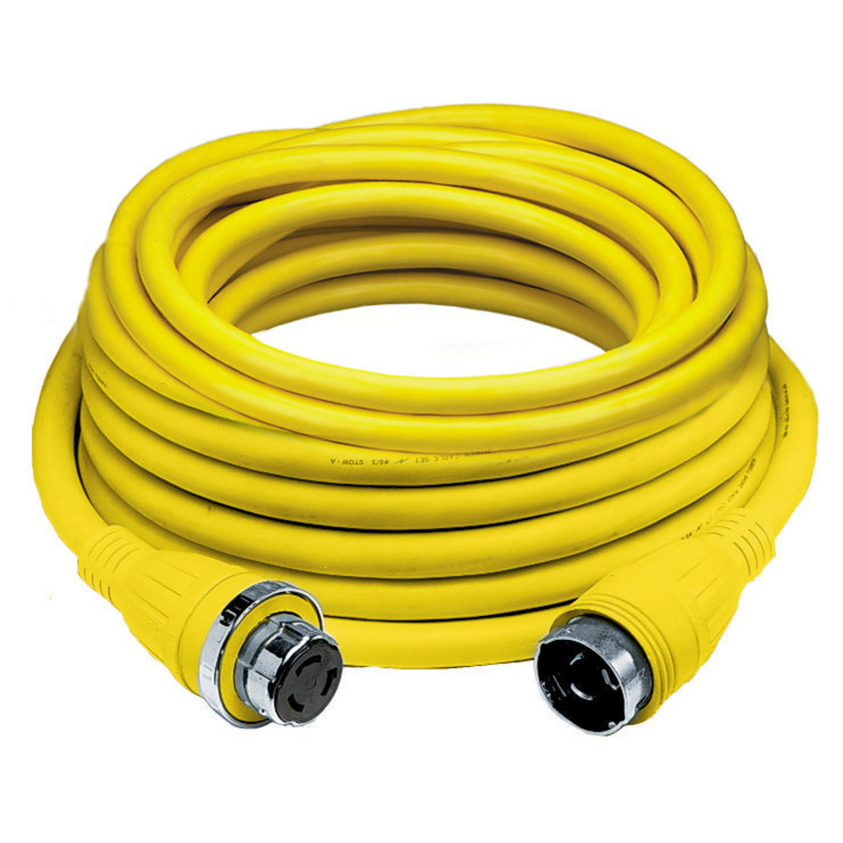 Hubbell HBL61CM43 Marine CABLE, 25', 50A, 125V, YL