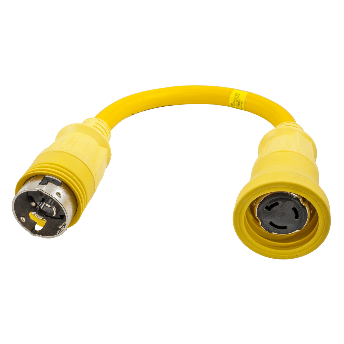 Hubbell HBL61CM72 Marine ADAPT, STR, YL, 50A L TO 50A 4W L