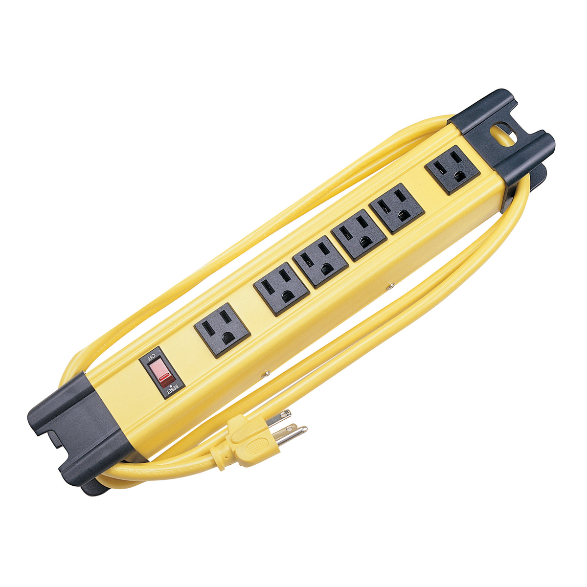Hubbell HBL6PS350YL 6 Foot 6 Outlet Yellow Surge Protection Plug Strip
