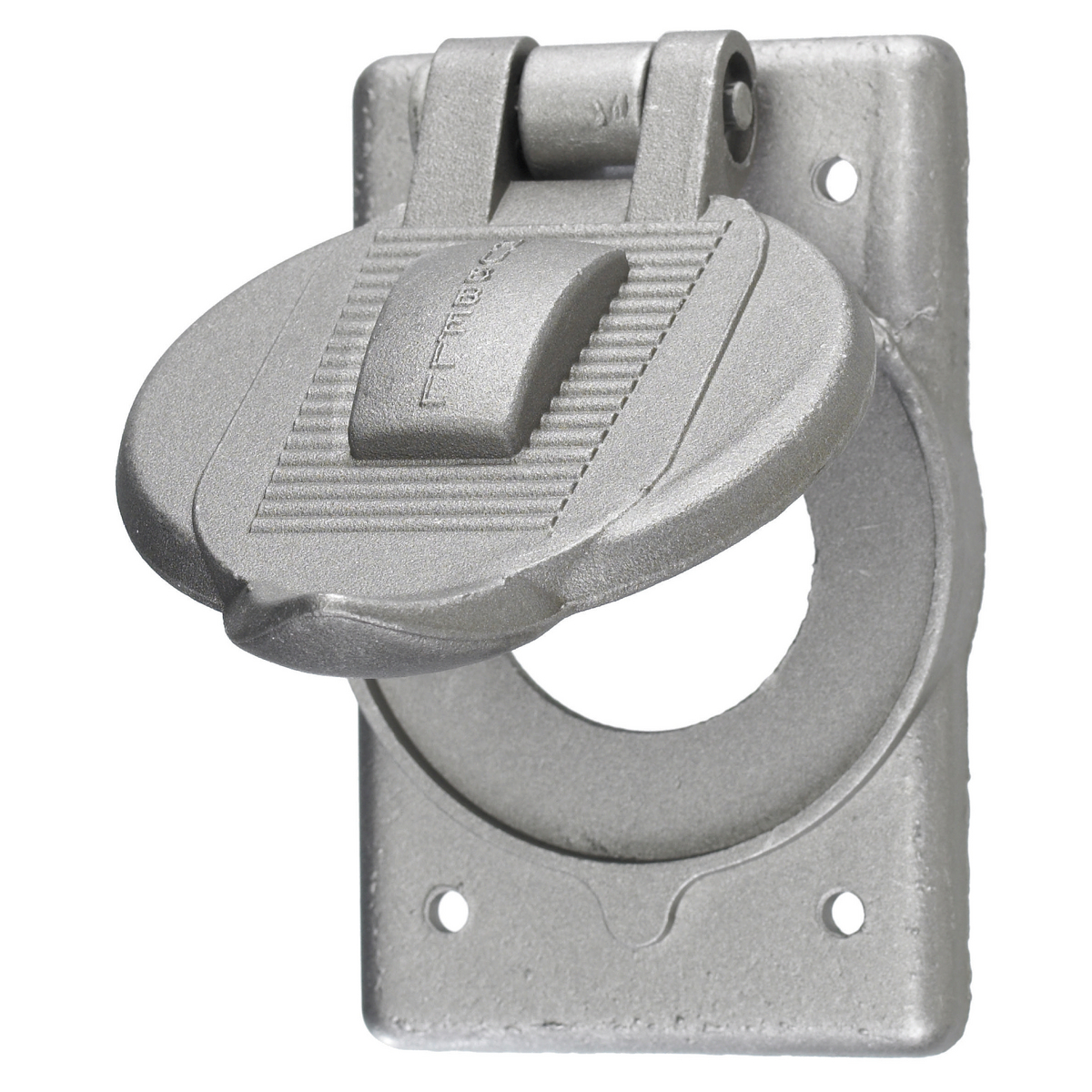 Hubbell HBL7420 Twist-Lock Weatherproof Cover, for Single Flush Receptacle. Vertical Mount