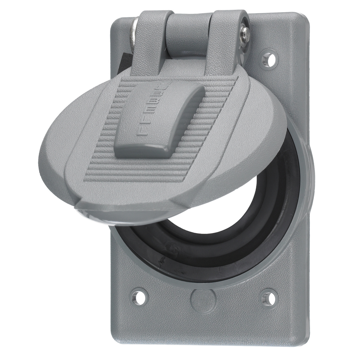 Hubbell HBL7428WOG Gray Thermoplastic Device Mount Weatherproof Lift Cover