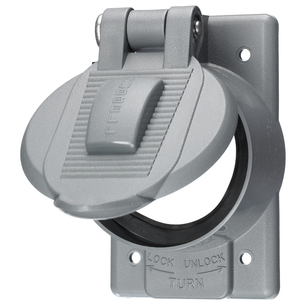 Hubbell HBL7774-WO Twist-Lock Weatherproof Cover, for 50A Single Flush Receptacle
