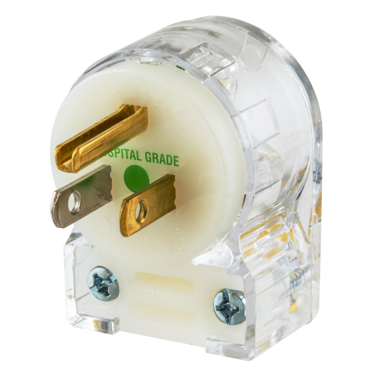 Hubbell HBL8215CAT 15 Amp 125 Volt 2-Pole 3-Wire NEMA 5-15P Straight Blade Angle Plug