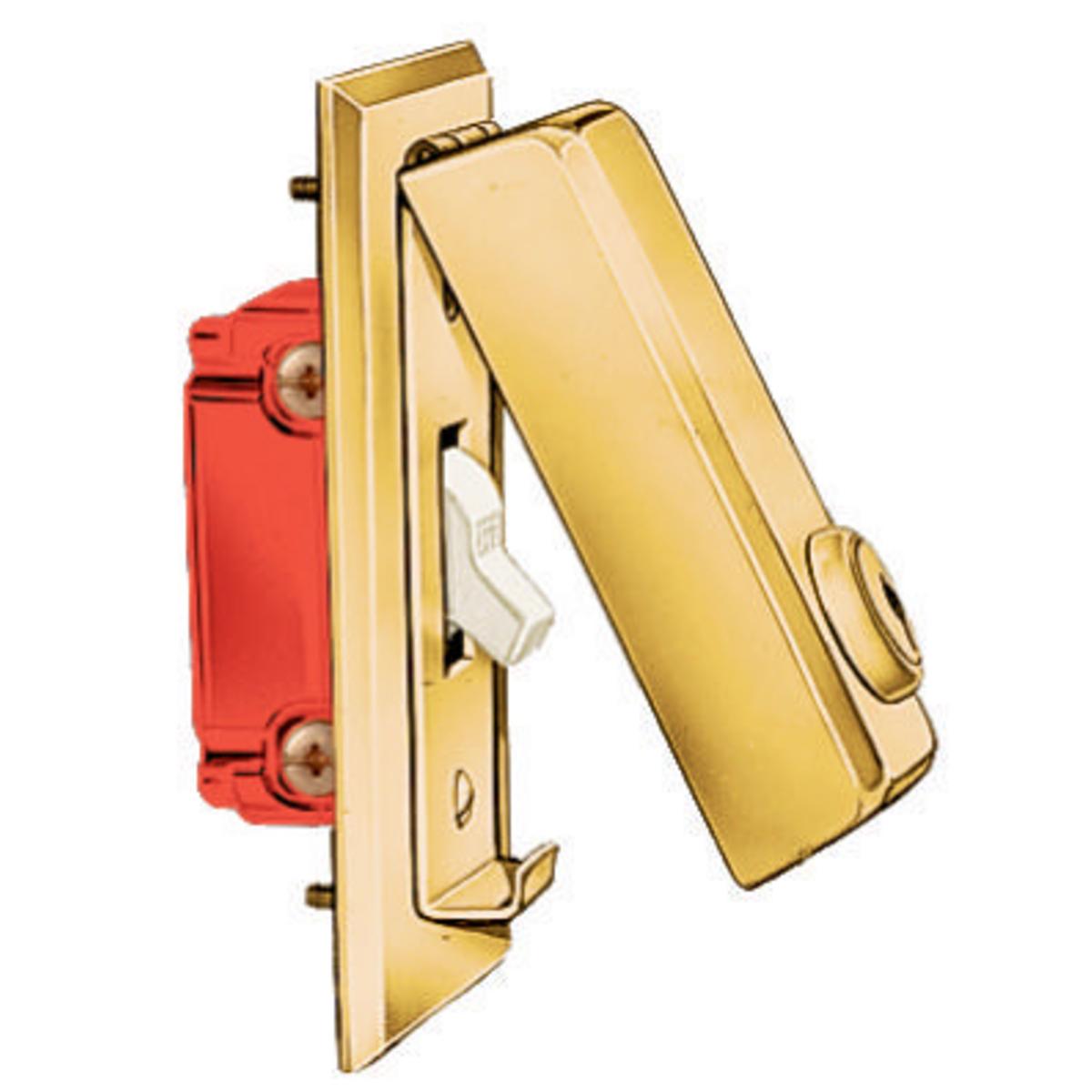 Hubbell HBL96061ATTACH COV, LOCKING, SWITCH, BRS, KEY A