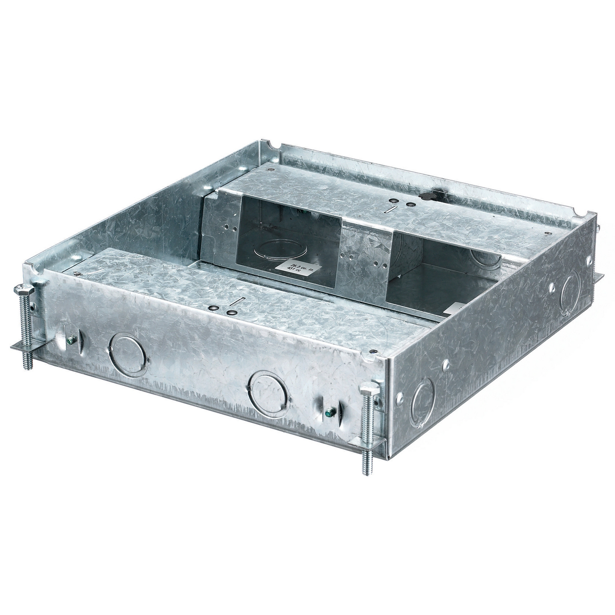 HUBBELL HBLCFB401BASE HUBBELL WIRING DEVICES, FLOOR BOXES, CONCRETE FLOOR BOX SERIES, 4-