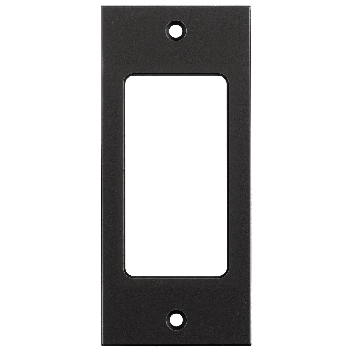 Hubbell HBLDE301SBK 2 x 4.5 Inch Black Decorator Screw Type Face Plate