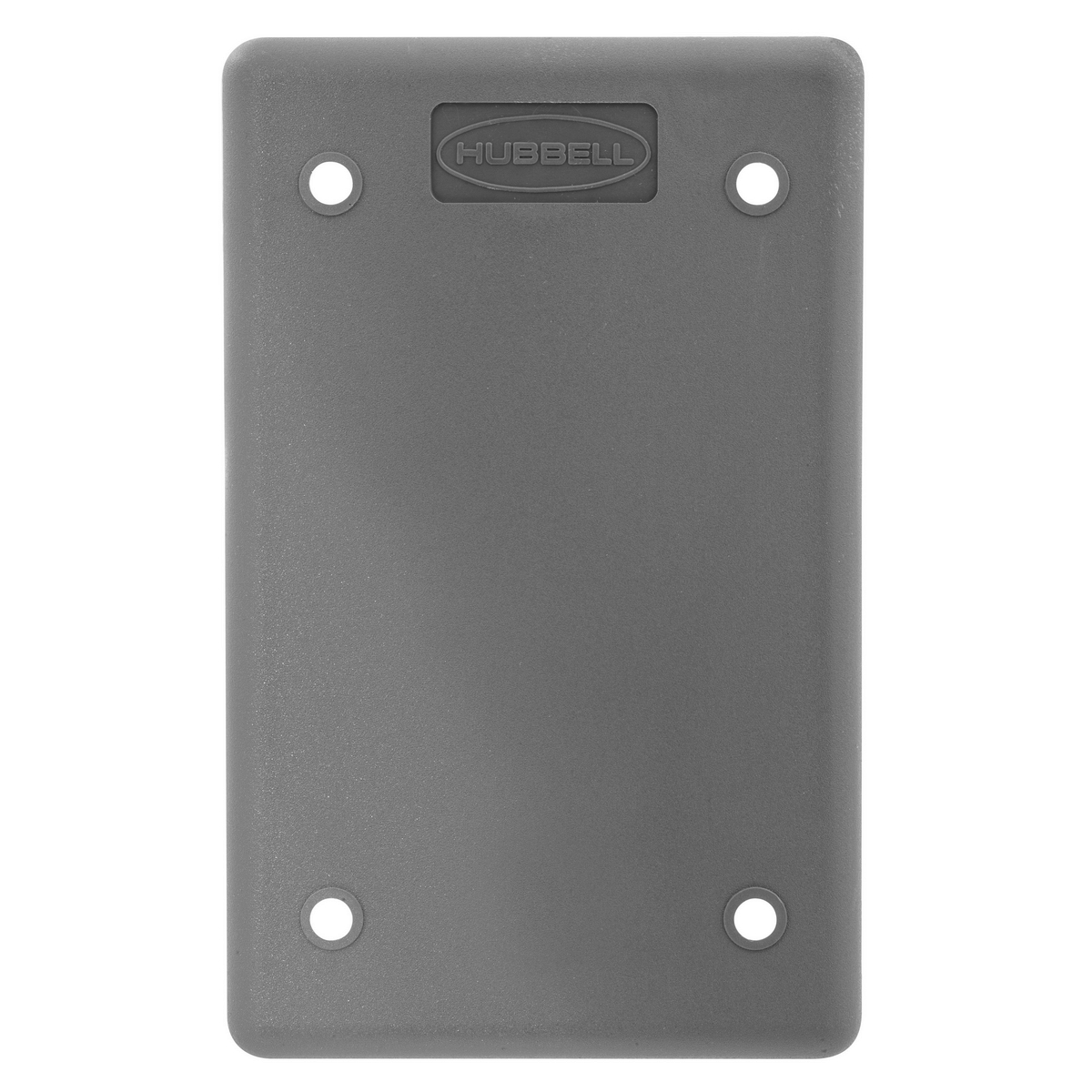 Hubbell HBLP14FS POB COVER PLATE, BLANK, GRAY