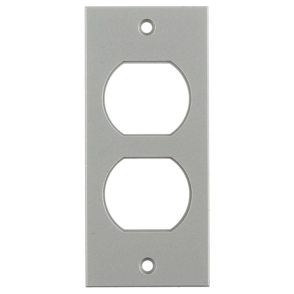 Hubbell HBLST302SGY 2 x 4.5 Inch Gray Duplex Screw Type Face Plate