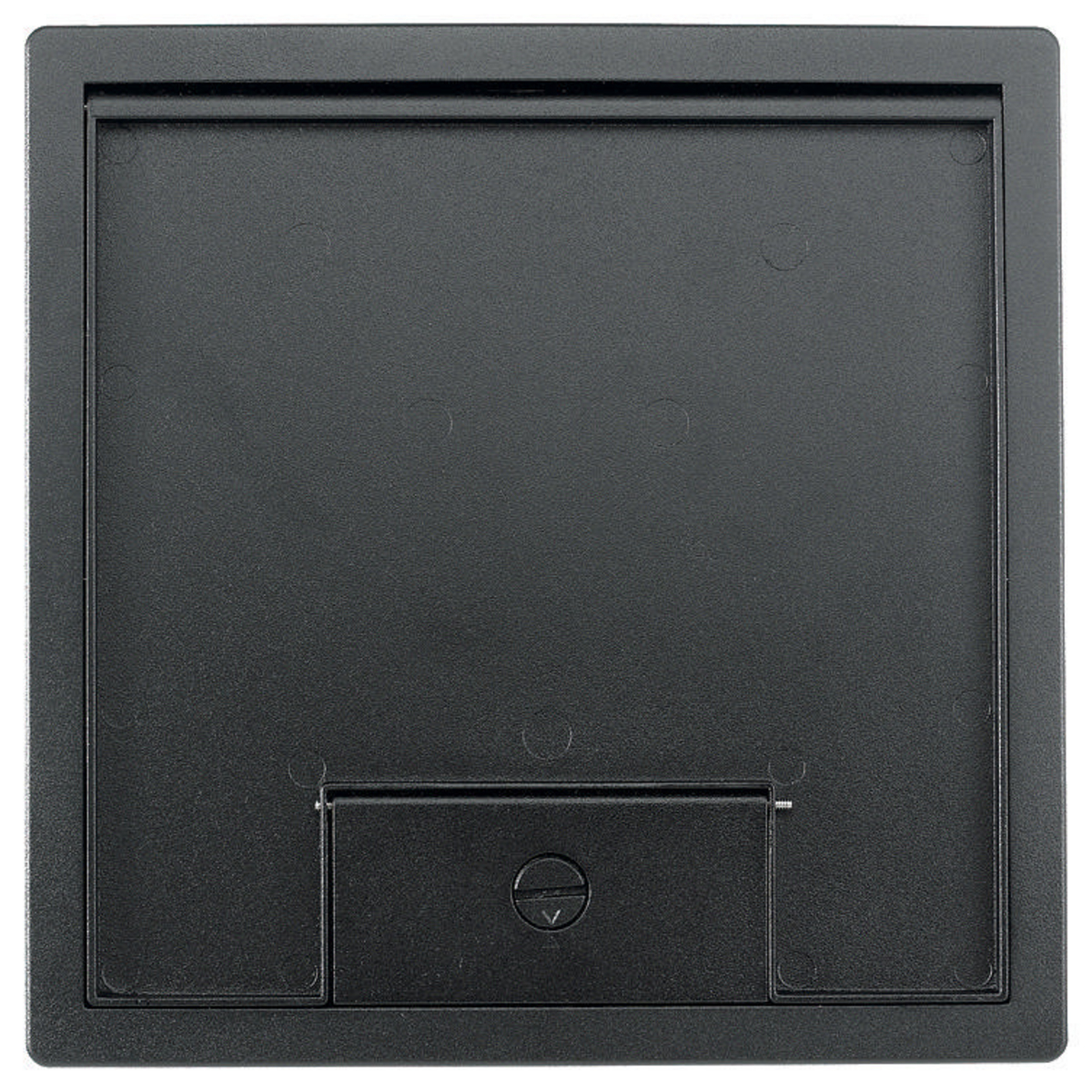 Hubbell HBLTCGNTBKSW 10.69 x 10.69 Inch Black Die-Cast Metal Floor Box Cover and Flange Assembly
