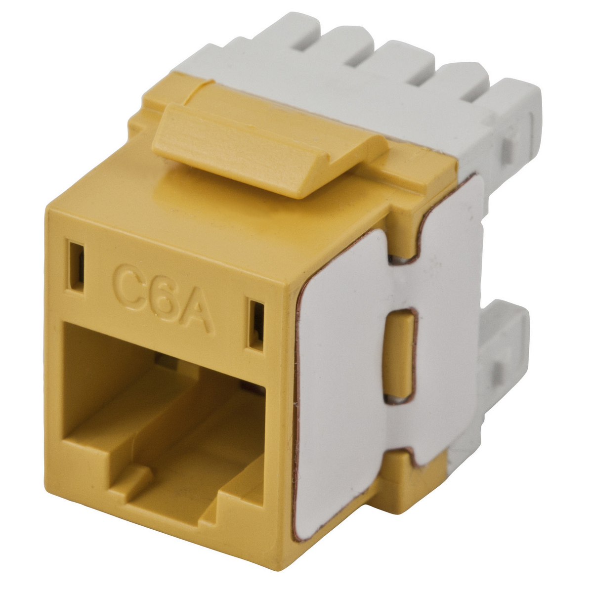 CAT6A Universal Yellow Hubbell HJ6AY25 Jack
