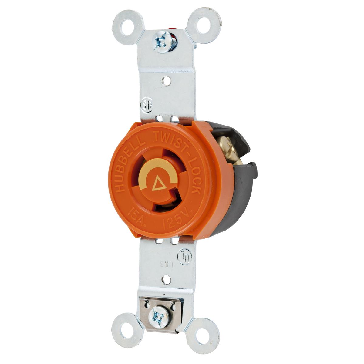 125V Hubbell HBL4720C L5-15P Twist Lock Plug 15A