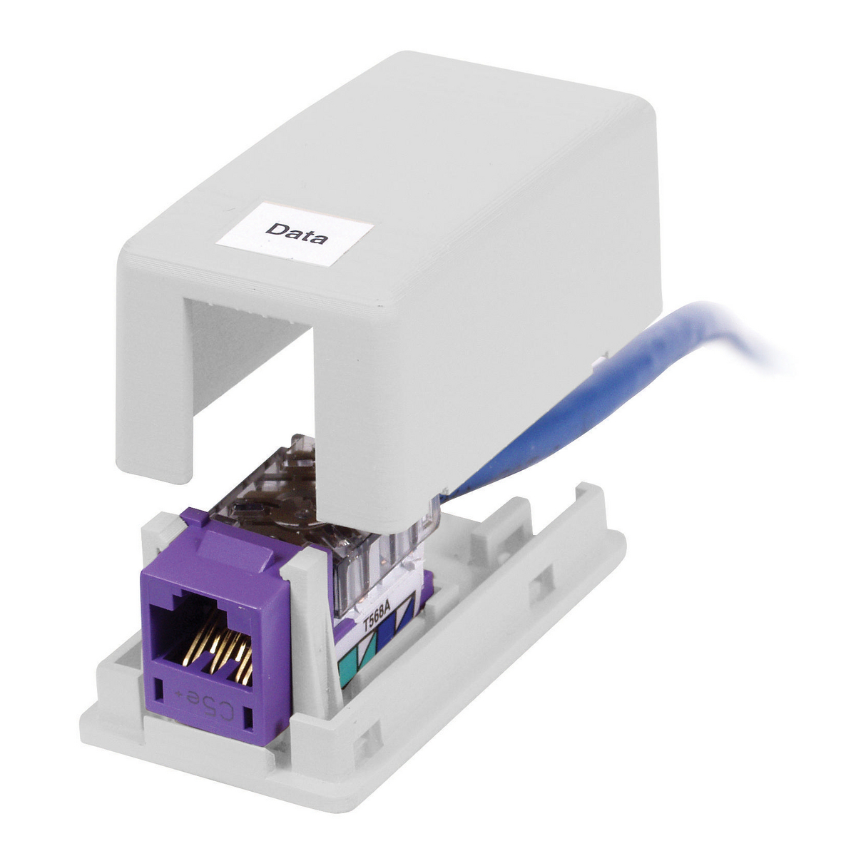 Hubbell ISB1W 1-Port White High Impact Resistant Flame Retardant Polymer Surface Mount Box