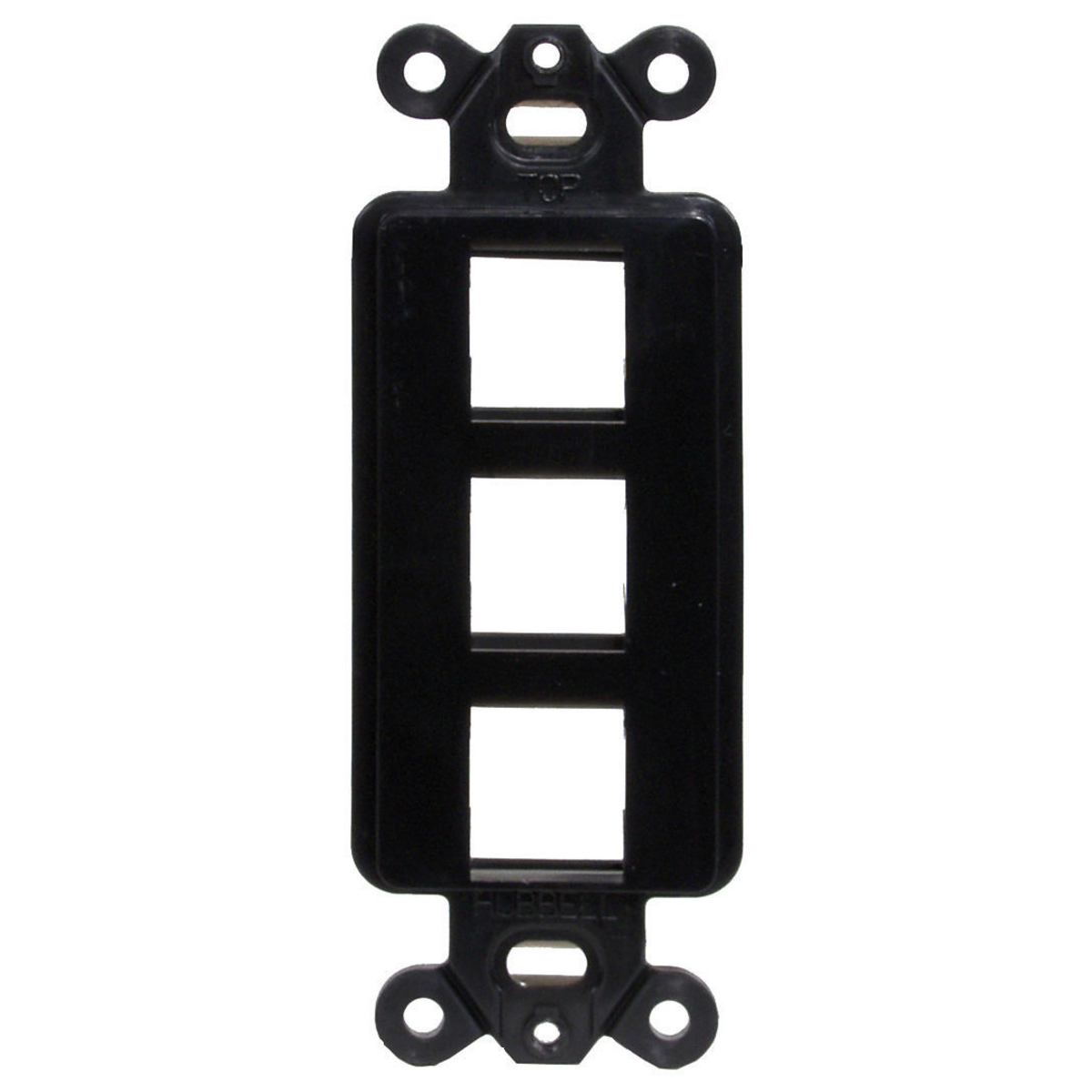 Hubbell ISF3BK 1-Gang Black 3-Port Face Plate