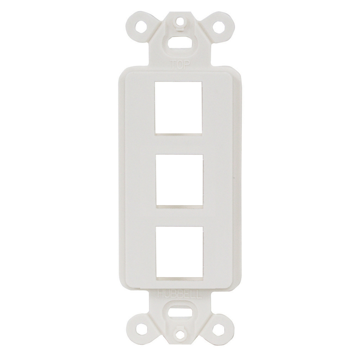 Hubbell ISF3W 1-Gang White 3-Port Face Plate
