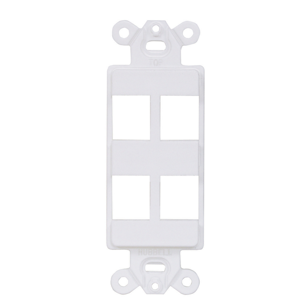 Hubbell ISF4W 1-Gang White 4-Port Face Plate