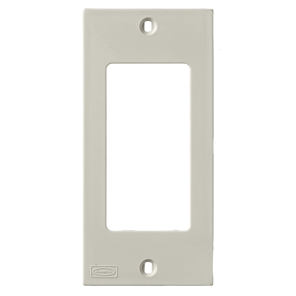 Hubbell KP26 1-Gang Office White Decorator Raceway Face Plate