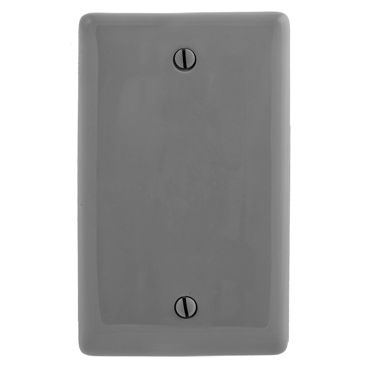Hubbell NPJ13GY 1-Gang Box Mount Blank Mid-Size Wall Plate