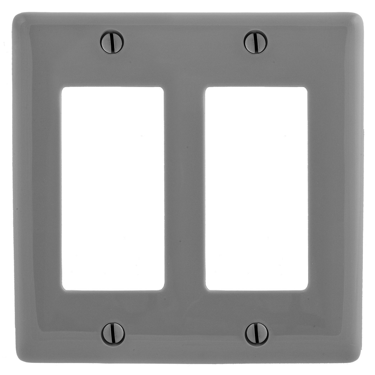 Hubbell NP262GY WALLPLATE, 2-G, 2) RECT, GY