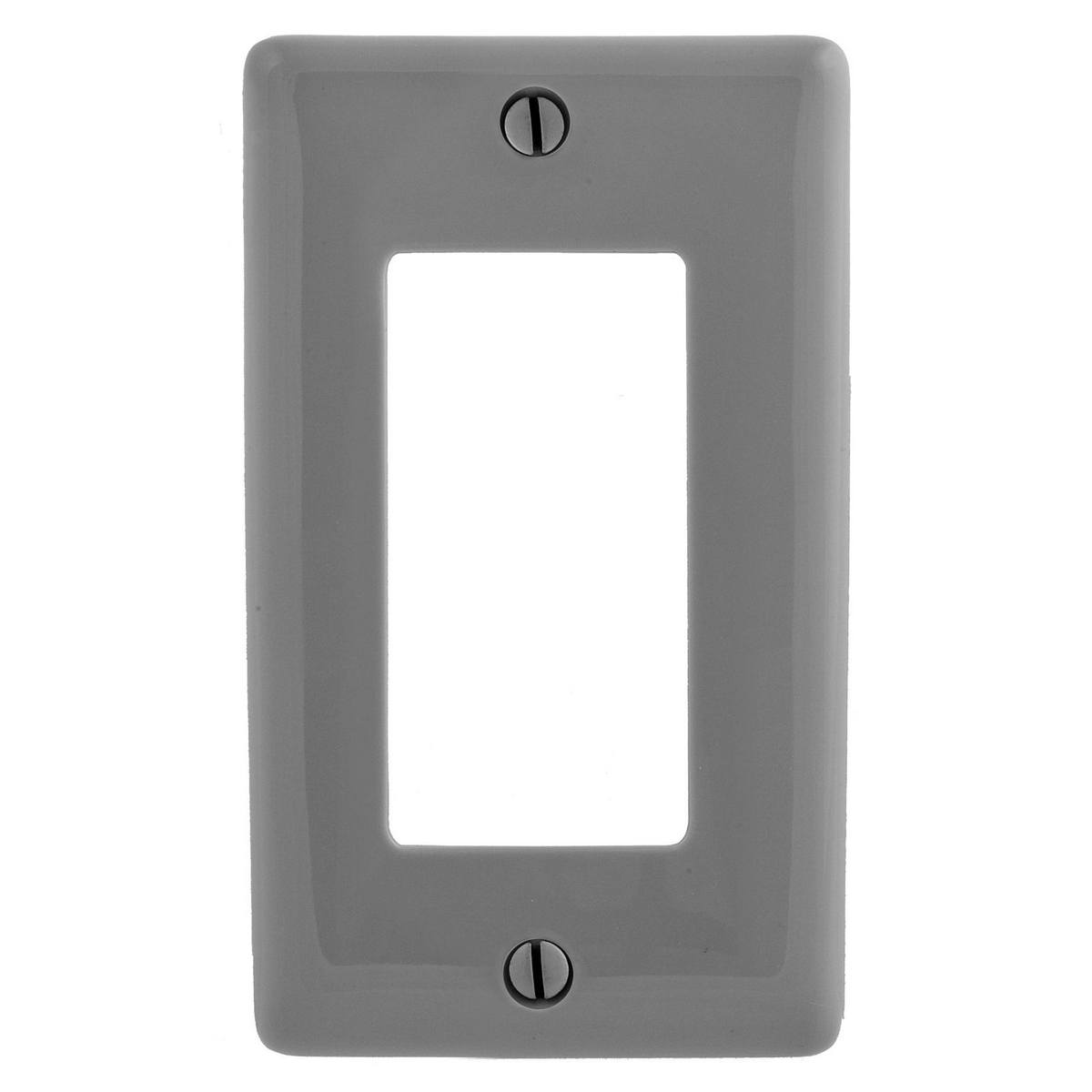 Hubbell NP26GY 1-Gang Gray Nylon Standard 1-Decorator Switch Wallplate