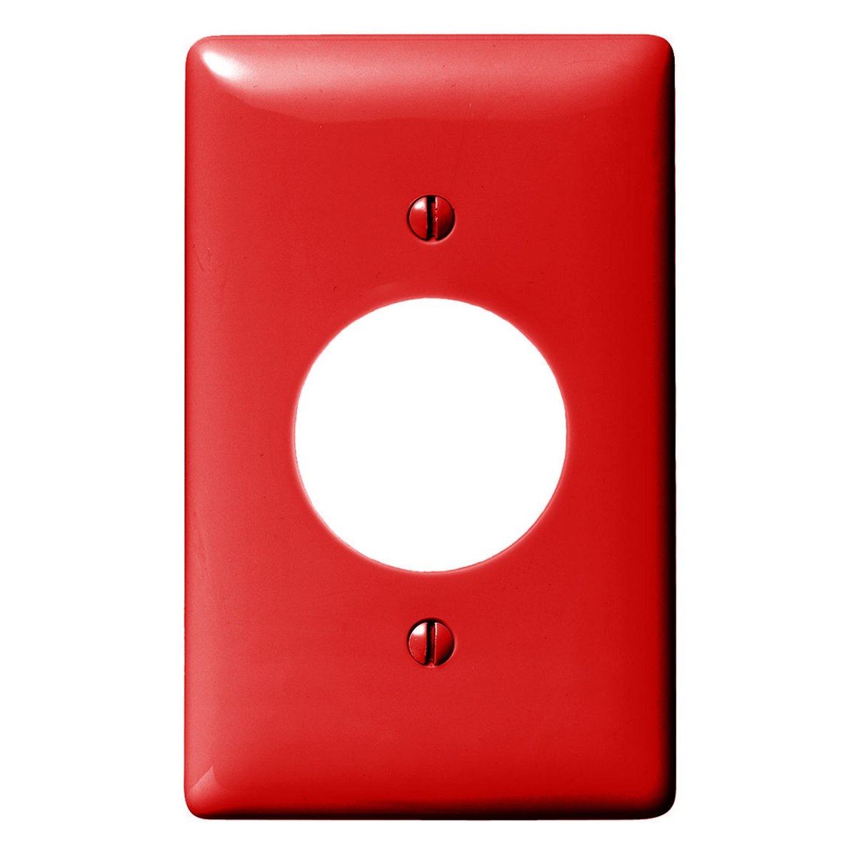 """Hubbell NP720R WALLPLATE, 1-G, 1.60"""" OPNG, RD"""