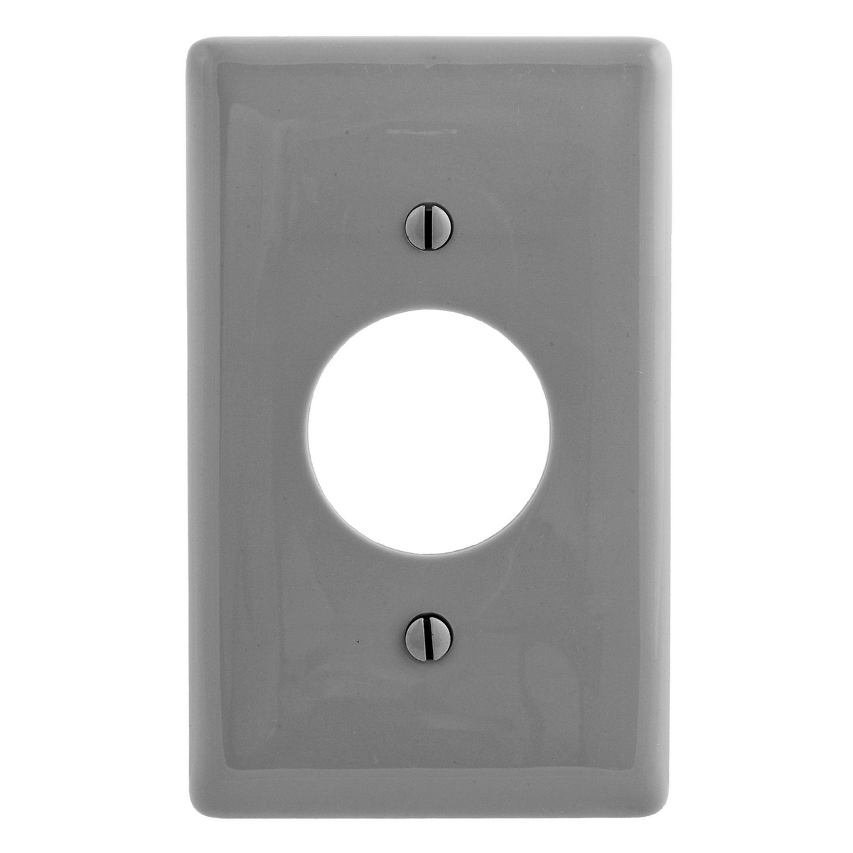 Hubbell NPJ7GY 1-Gang Gray 1.4 Inch Opening Mid-Size Wall Plate