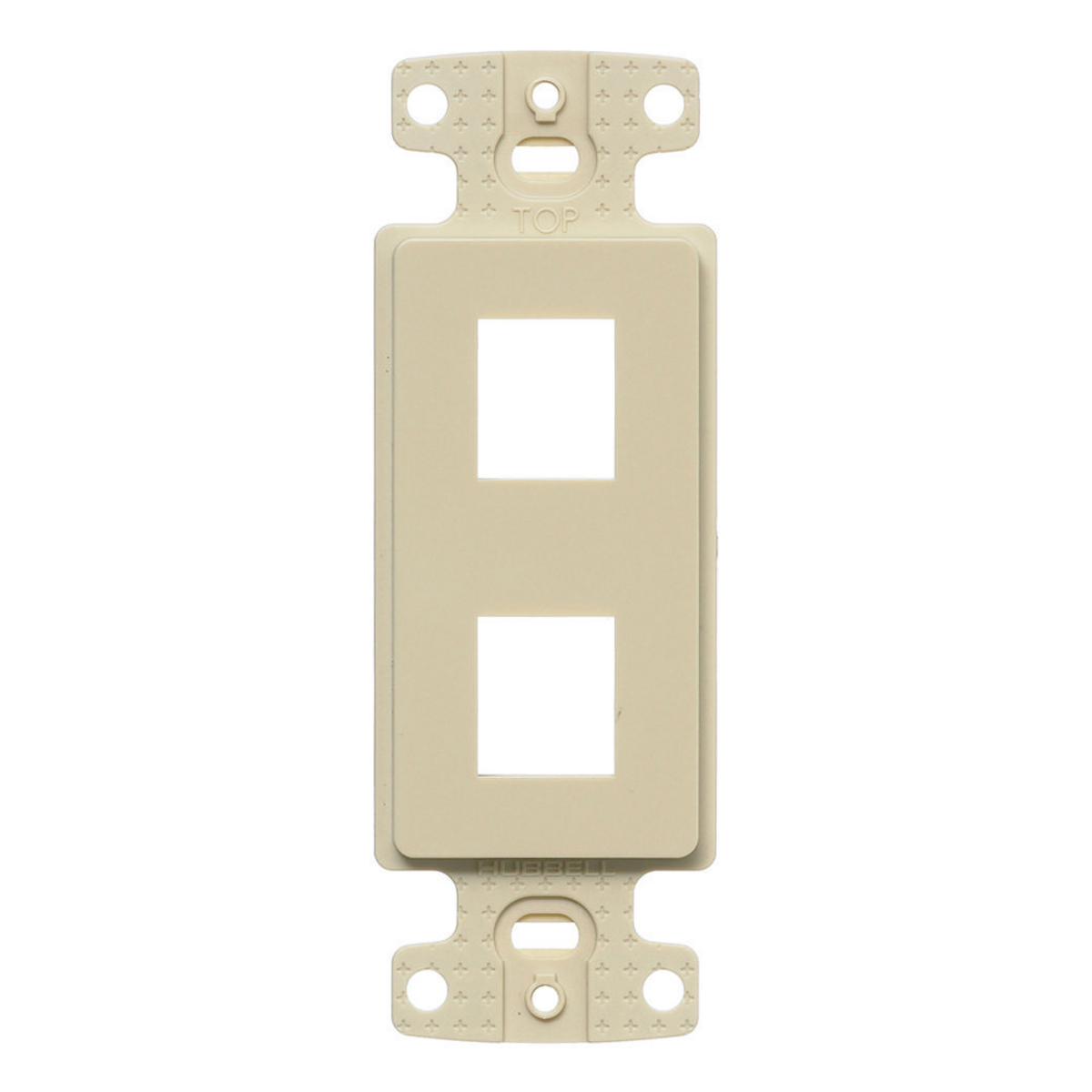 Hubbell NS612I 1-Gang Ivory Thermoplastic 2-Port Data Communication Face Plate